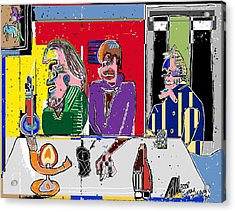 People Places Parties Politics 2008 Acrylic Print by Michael OKeefe