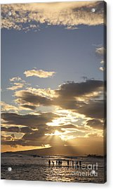 People Silhouette Sunset Acrylic Print by Brandon Tabiolo - Printscapes