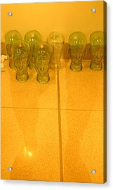 People With Glass Heads Should Beware Acrylic Print by Jez C Self