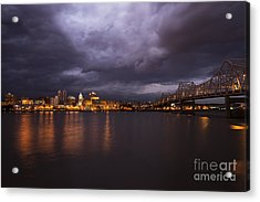 Acrylic Print featuring the photograph Peoria Dramatic Skyline by Andrea Silies