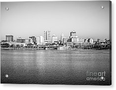 Peoria Skyline Black And White Photo Acrylic Print
