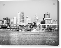 Peoria Skyline Black And White Picture Acrylic Print