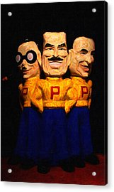 Pep Boys - Manny Moe Jack - Painterly - 7d17428 Acrylic Print by Wingsdomain Art and Photography