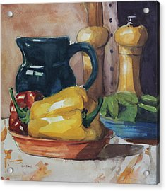 Peppers And Jug Acrylic Print