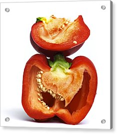Peppers Acrylic Print by Bernard Jaubert