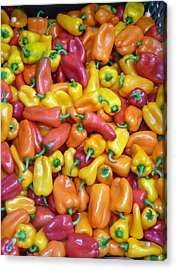 Peppers Acrylic Print by David Bearden