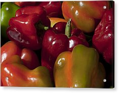Peppers In The Late Afternoon Acrylic Print by Robert Ullmann