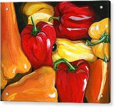 Peppers Acrylic Print by Karyn Robinson