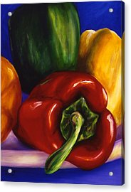 Peppers On Peppers Acrylic Print