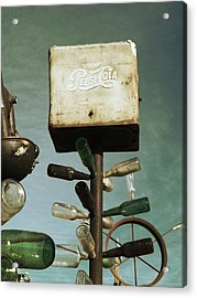 Pepsi Bottle Tree - Route 66 Acrylic Print by Glenn McCarthy Art and Photography