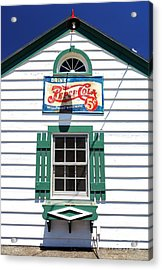 Pepsi Window At Ambler's Texaco Gas Station Acrylic Print by John Rizzuto