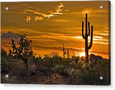 Peralta Arizona Sunset Acrylic Print