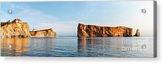 Acrylic Print featuring the photograph Perce Rock At Gaspe Peninsula by Elena Elisseeva