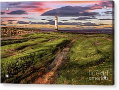 Perch Rock Lighthouse Sunset Acrylic Print
