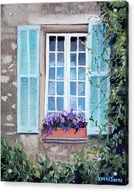Perched Purples Acrylic Print by Jeanne Rosier Smith