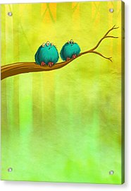Perching Fluffs Acrylic Print
