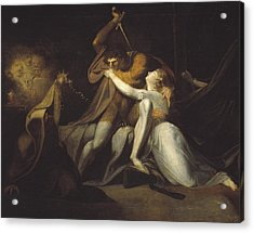 Percival Delivering Belisane Acrylic Print by Henry Fuseli