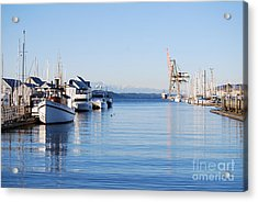 Acrylic Print featuring the photograph Percival Landing by Larry Keahey