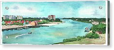 Acrylic Print featuring the painting Perdido Key River by Betsy Hackett