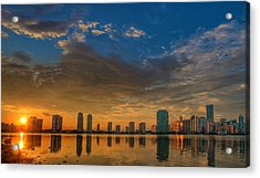 Perfect Sunset Acrylic Print by William Wetmore