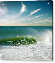 Perfect Wave Acrylic Print by Carlos Caetano