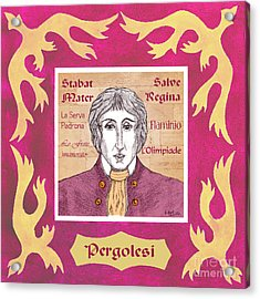 Pergolesi Acrylic Print by Paul Helm