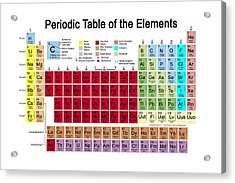 Periodic Table Of The Elements Acrylic Print by Carol and Mike Werner