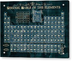 Periodic Table Of The Elements Vintage 4 Acrylic Print