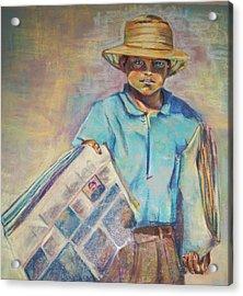 Periodiquero Acrylic Print by Diana Moya