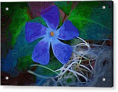 Acrylic Print featuring the digital art Periwinkle Blue by Donna Bentley