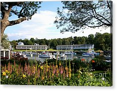 Perkins Cove Acrylic Print by Adrian LaRoque
