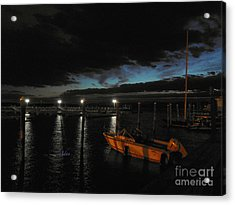 Perkins Pier Sunset Acrylic Print