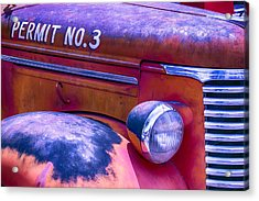 Permit No 3 Acrylic Print by Garry Gay