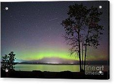 Perseid Meteor And Aurora Acrylic Print