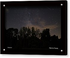 Perseid Meteor In Milky Way Acrylic Print by PJQandFriends Photography