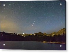 Acrylic Print featuring the photograph Perseid Meteor Shower Indian Peaks by James BO Insogna