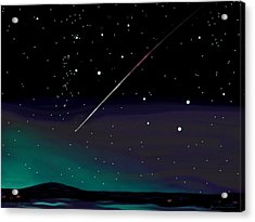 Perseid Meteor Shower  Acrylic Print