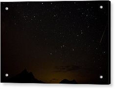 Perseid Meteor Shower Acrylic Print