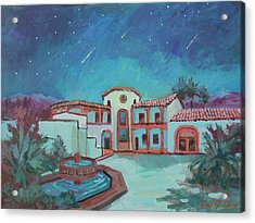 Acrylic Print featuring the painting Perseids Meteor Shower From La Quinta Museum by Diane McClary