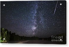 Perseids Meteor Shower Over Cottage Country Acrylic Print