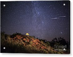 Perseids Over Caprock Canyons Acrylic Print