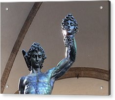 Perseus And Medusa Detail Acrylic Print by Edan Chapman