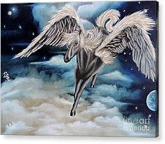 Perseus The Pegasus Acrylic Print