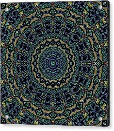 Persian Carpet Acrylic Print by Joy McKenzie