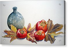 Persimmon Trio Acrylic Print by Sandy Fisher
