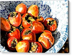 Persimmons Acrylic Print by Nadi Spencer