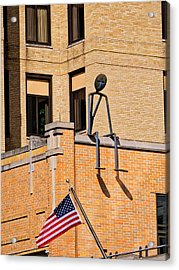 Person On Building 2 - Madison - Wisconsin Acrylic Print