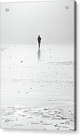 Person Running On Beach Acrylic Print