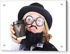 Person With Cup Of Coffee Acrylic Print