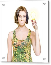 Person With Innovative Solution Acrylic Print